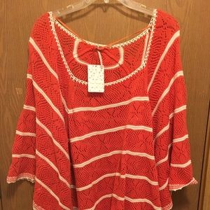 NWT Free People knitted poncho
